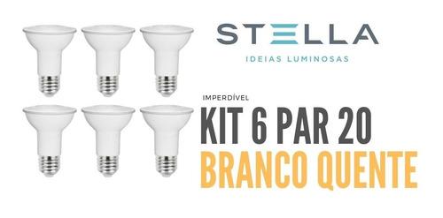 Kit Com 6 Lampada Par 20 Stella 5,5w 3000k - Sth9020/27