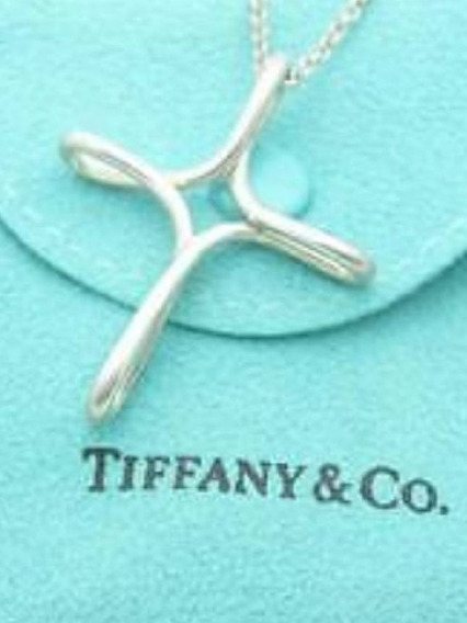 Crucifixo Tiffany Prata 925 Banho Platina (ouro Branco)