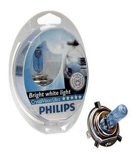 Lámparas Crystal Vision Philips H1 H3 H4 H7 12v 55w El Par