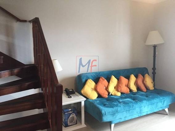 Ref 9953 Lindo Flat Duplex Com 55 A.c, 1 Dorm, Sacada, Wc Completo, Sala De Estar Com Lareira, Cozinha Americana,2 Vgs. Cond. Home Green. - 9953