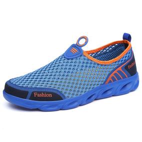 f72ac43633 Verano Agua Zapatos Hombres Mujeres Al Aire Libre Malla Resp