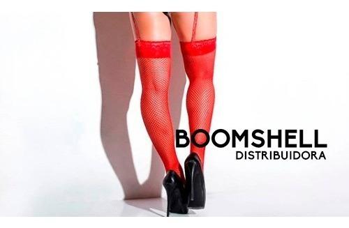 Panty Medias De Red Con Puntilla Siliconada Bucaneras Sexys