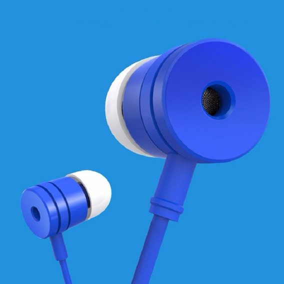 Fone Ouvido P2 3.5 C/ Play Pause Microfone Stereo Lenovo Blu