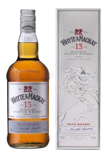 Whisky Whyte & Mackay 13 Años 700ml En Estuche