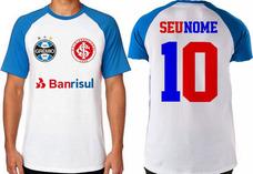 d819957a39553 Camiseta Time Futebol Inter grêmio Dupla Grenal Licenciada no ...