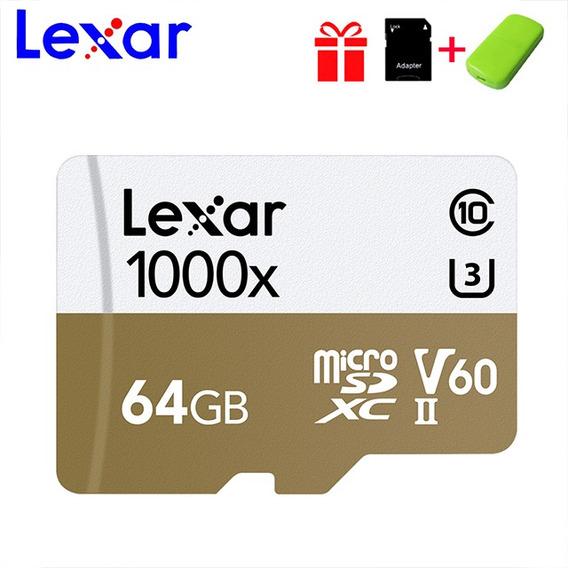 Lexar Micro Sd Tf Cartão 64gb C10 Memória Flash Drive Cartão