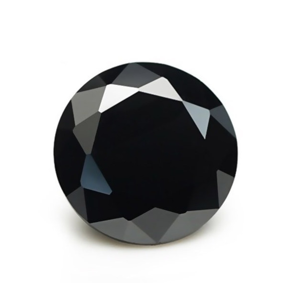 Moissanita Diamante Negra 1.05ct 6.6mm Mossainita
