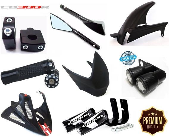 Kit Esportivo Cb300 Slider Retrovisor Spoiler Prot. Tanque