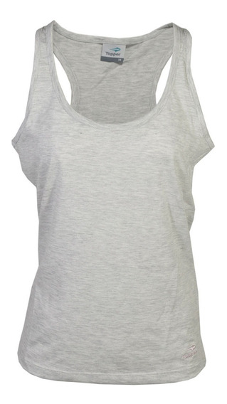 Musculosa Topper Top Basico Mujer Gris Melange