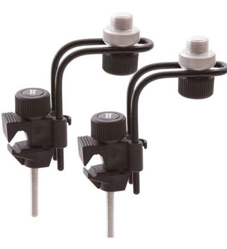 2 Clamp Para Microfonar Bateria Percussão Suporte Ask B10