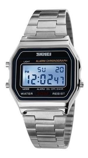 Relógio Skmei Original Modelo 1123 Prata Prova D