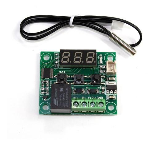 Termostato De 12 Vcd Con Display W1209