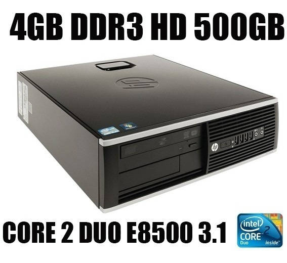 Hp Compaq 6000pro Small Core2 Duo 4gb Ddr3 Hd500gb