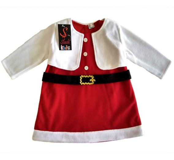 Vestido Santa Claus Papa Noel Con Bolero Afelpado Navidad
