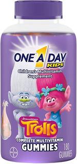 Novidade Bayer Gummies Kids Trolls 180 Gomas Multivitamina
