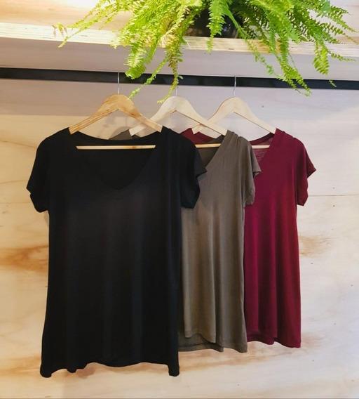 Kit 3 Blusas Feminina Podrinha Blusinha Camiseta T-shirt