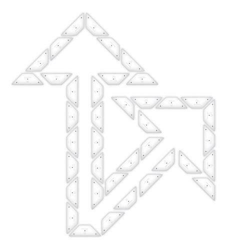 Imagen 1 de 4 de Kit Flecha Especial Curva 45 Derecha Placa No Pintura Vial