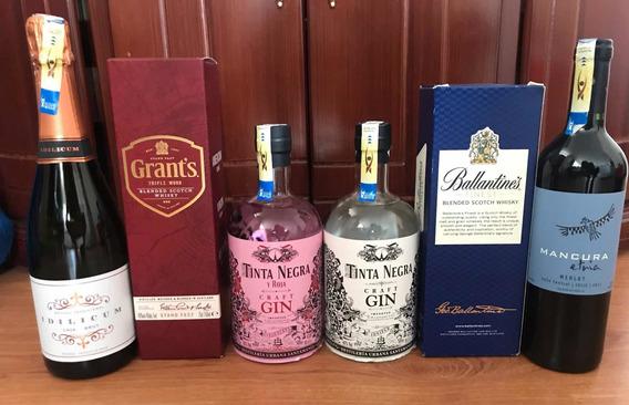 Whisky, Gin, Vino, Grants, Tinta Negra, Grants, Ballantines