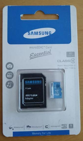Cartão Samsung Micro Sdhc 64 Gb