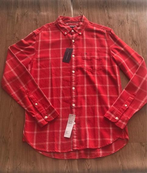 Camisa Social Xadrez Tommy Hilfiger Tamanho M