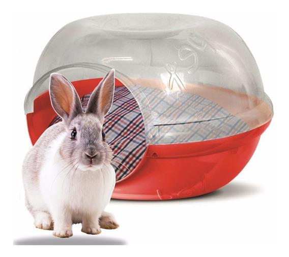 Casa Conejo Perro Gato Plast Pet Cave Snow Roja Envío Gratis
