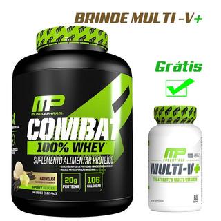 Combat 100% Whey Muscle Pharm 1,8kg + Brinde