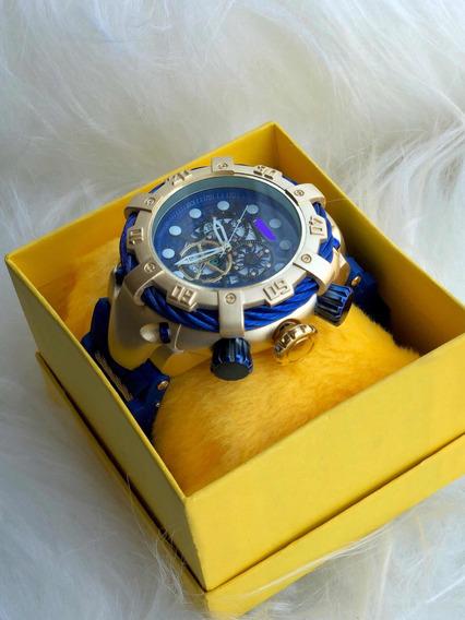 Relógio De Pulso Masculino Luxo Reserve Grande + Caixa