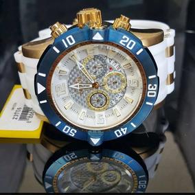 Relógio Invicta 23706 Original Branco, Azul, Ouro, Dourado