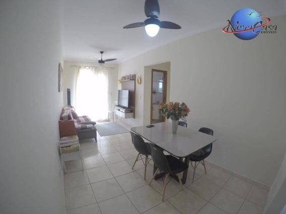 Lindo Apartamento Com 2 Dormitórios Para Alugar, Mobiliado , 72 M² Por R$ 1.800/mês - Aviação - Praia Grande/sp - Ap7482