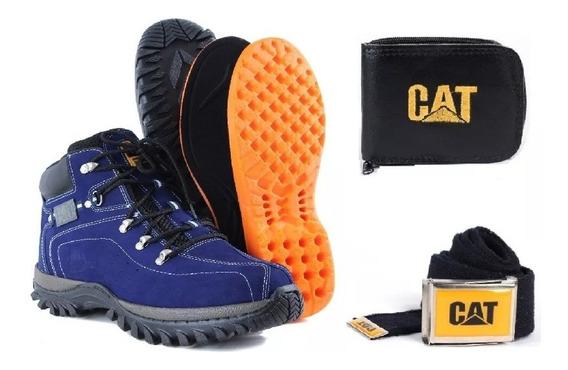 Bota Caterpillar Masculina Couro Original (promoção)+ Brinde