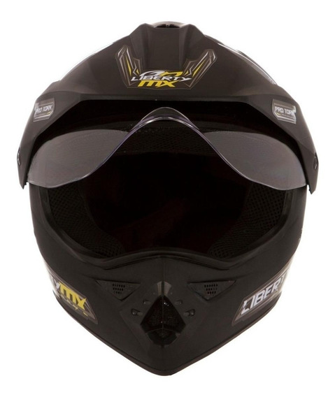 Capacete para moto Pro Tork Liberty MX Pro Vision preto-foscoM