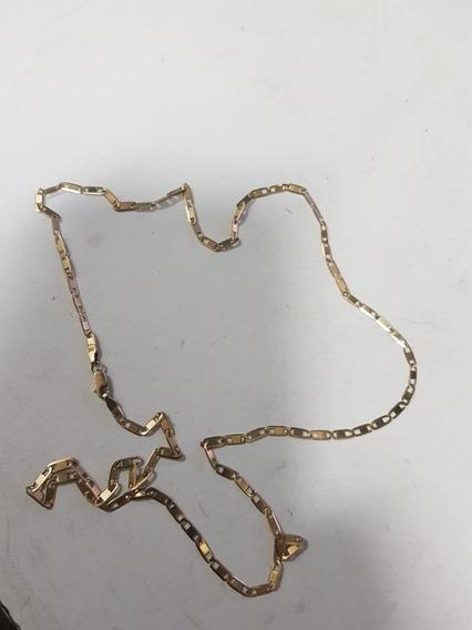 Corrente Masculina Ouro 18k Cordão Piastrine 60cm