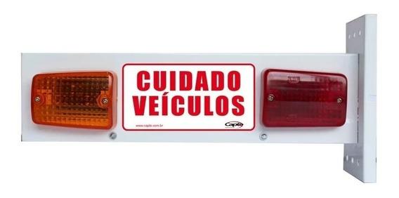 Sinalizador De Garagem Sonoro Veicular Para Portão Led
