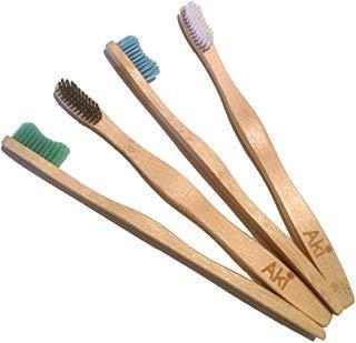 Aki - Cepillo De Dientes De Bambú (4 Unidades, Envio Gratis