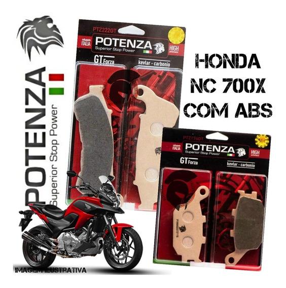 Kit Pastilha Freio Potenza Honda Nc 700x C/abs 12-15 174 222