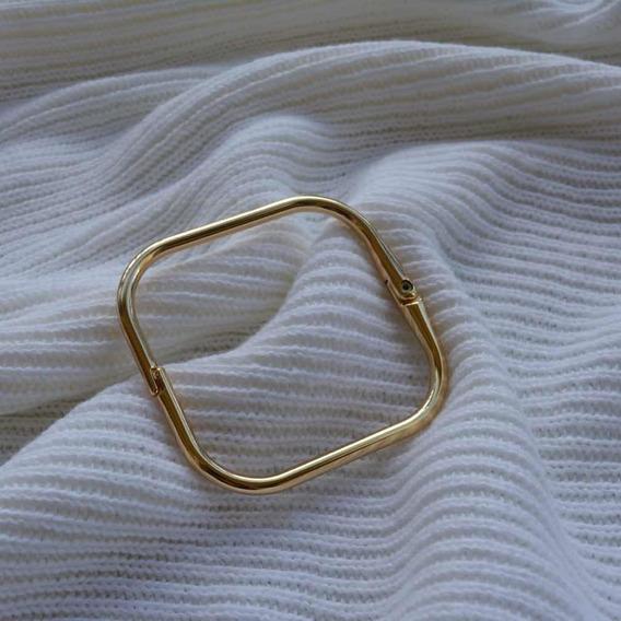 Bracelete Quadrado Banhado
