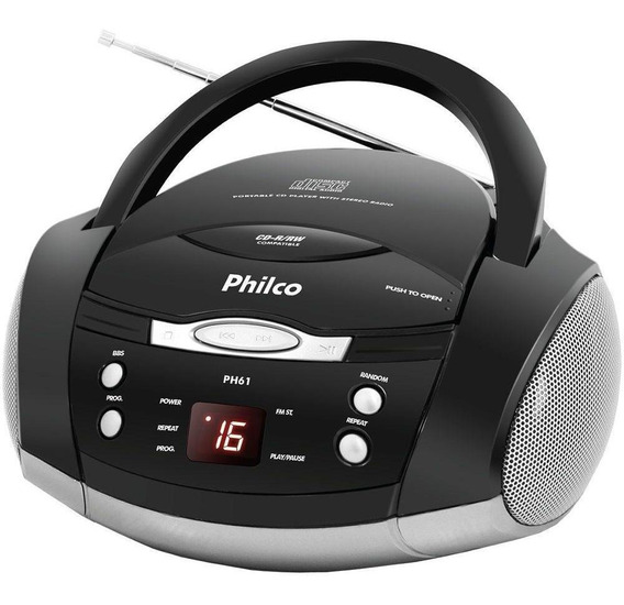 Rádio Philco Ph61 Display Digital Fm Mp3 Cd