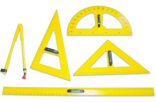 Set De Geometría Para El Pizarrón  5 Und.