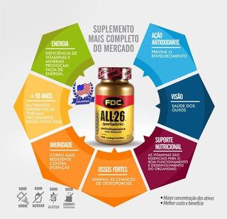 Vitamina All 26 Geriatric 100 Tabs Polivitamínico Importado