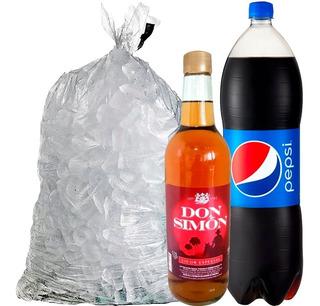 Ron Licor Seco Don Simon 0,70 Lts + Hielo + Pepsi 2 Lts. Lf