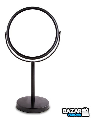 Espejo Maquillaje Negro Barba Con Aumento De Mesa Zoom X 5