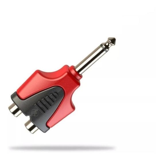Adaptador Plug 6,3 Mono A 2 Rca Roxtone Rpan335 X Unidad
