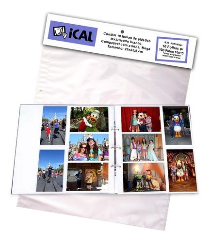 Refil Mega Album Ical R34 - 10 Folhas Para 100 Fotos 10x15