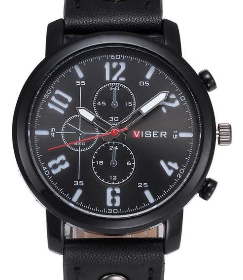 Nuevo Reloj Viser Black Energy!! Elegancia!! Moda Casual!!