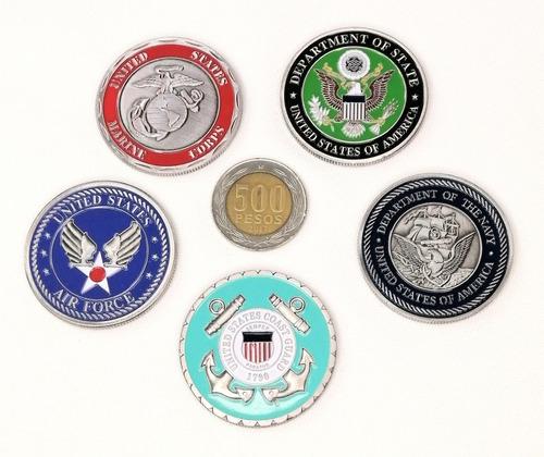 Imagen 1 de 7 de Moneda Militar, Set Cuerpos Armados Estados Unidos