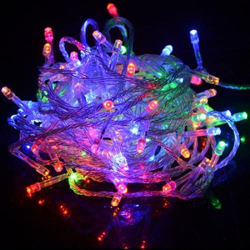 Imagen 1 de 4 de Serie 15 Metros Led Luz Multicolor 300 Luces
