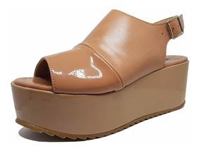Sandalia Plataforma Comfort Caramelo 252