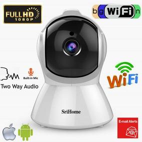 Srihome Câmera De Segurança Ip Hd 1080p Infravermelho Wifi