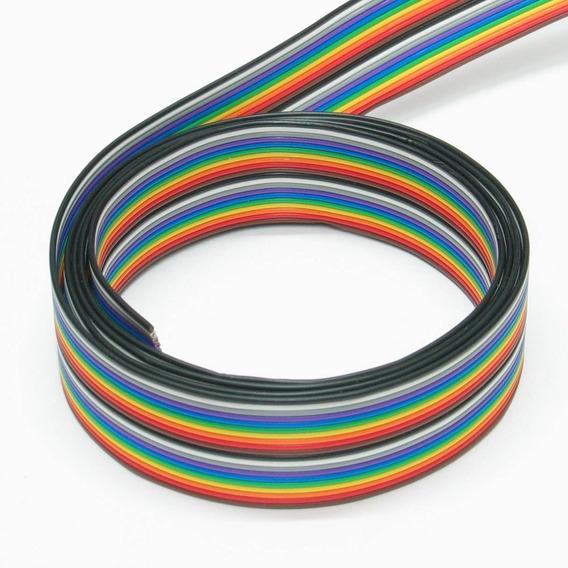 50 Metros Flat Cable 20 Vias Colorido Passo 1,27mm 26awg