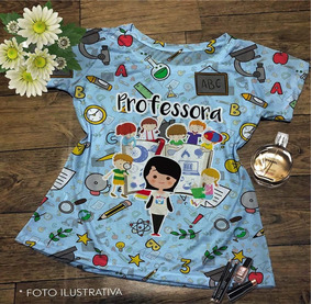 Camiseta Feminina Profissões Pedagogia
